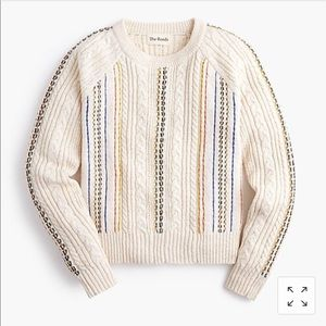 Reeds x jcrew rainbow cable knit sweater, s, NWT